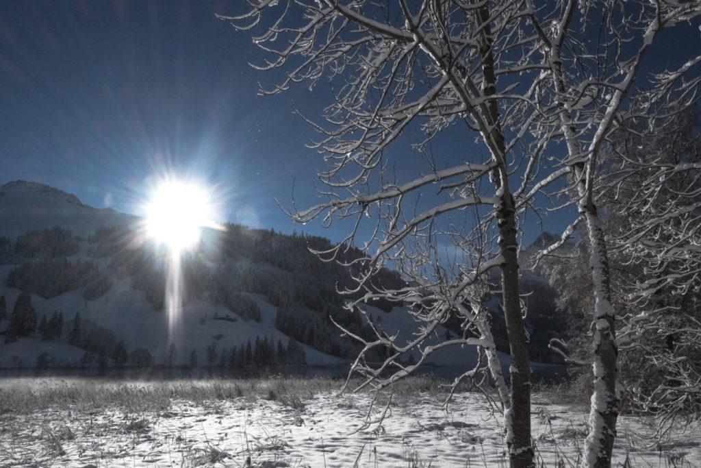 Sonne am Schwarzsee