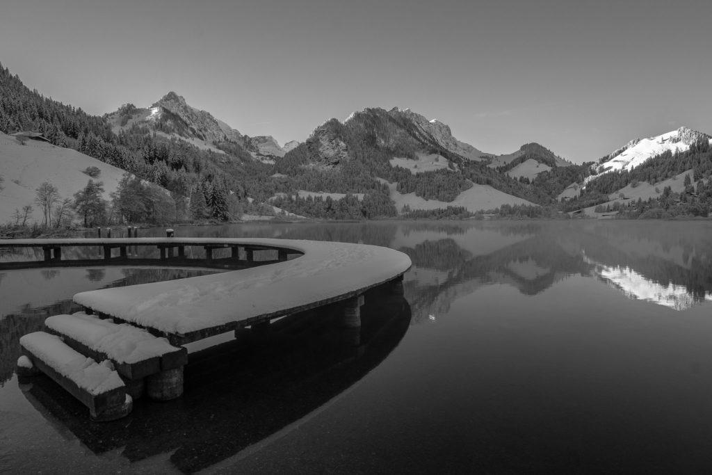 Schwarzsee in SchwarzWeiss