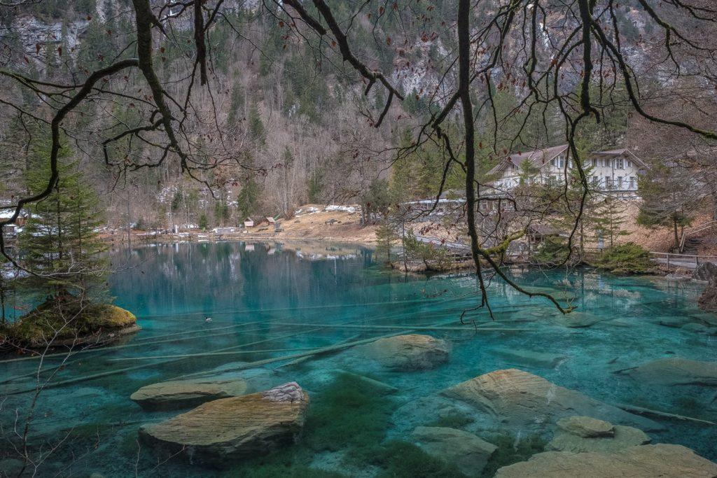 Blaue Farbe Blausee