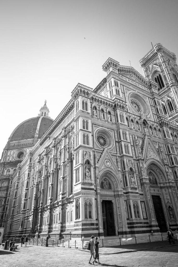 Florenz Kathedrale schwarzweiss