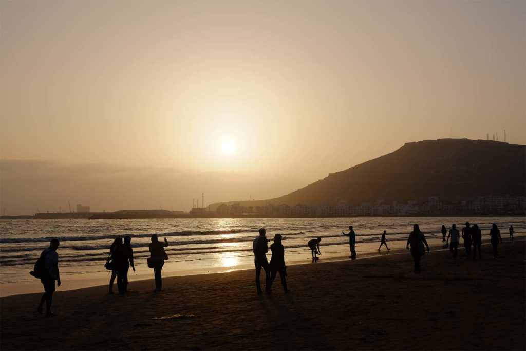 Sunset in Agadir