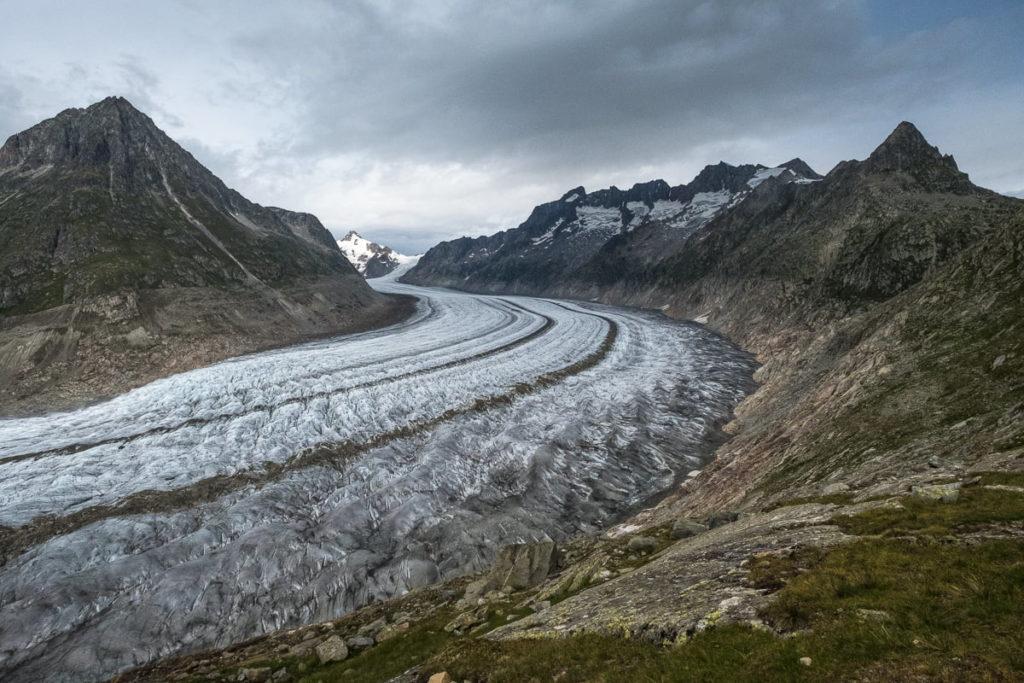 Wanderung entlang Aletschgletscher