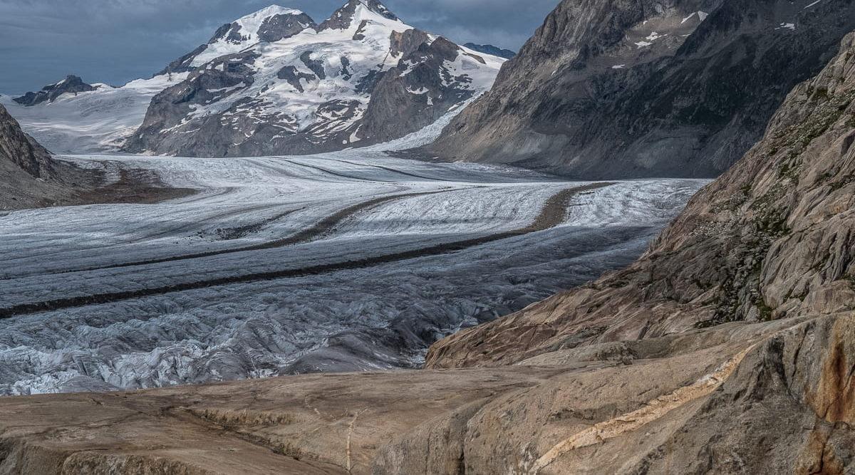Der grosse Aletschgletscher von Nahem