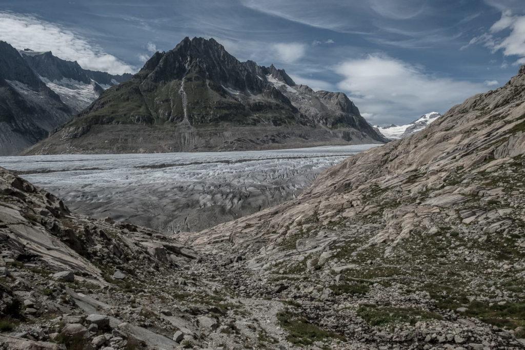Startpunkt der Gletscherwanderung Aletschgebiet