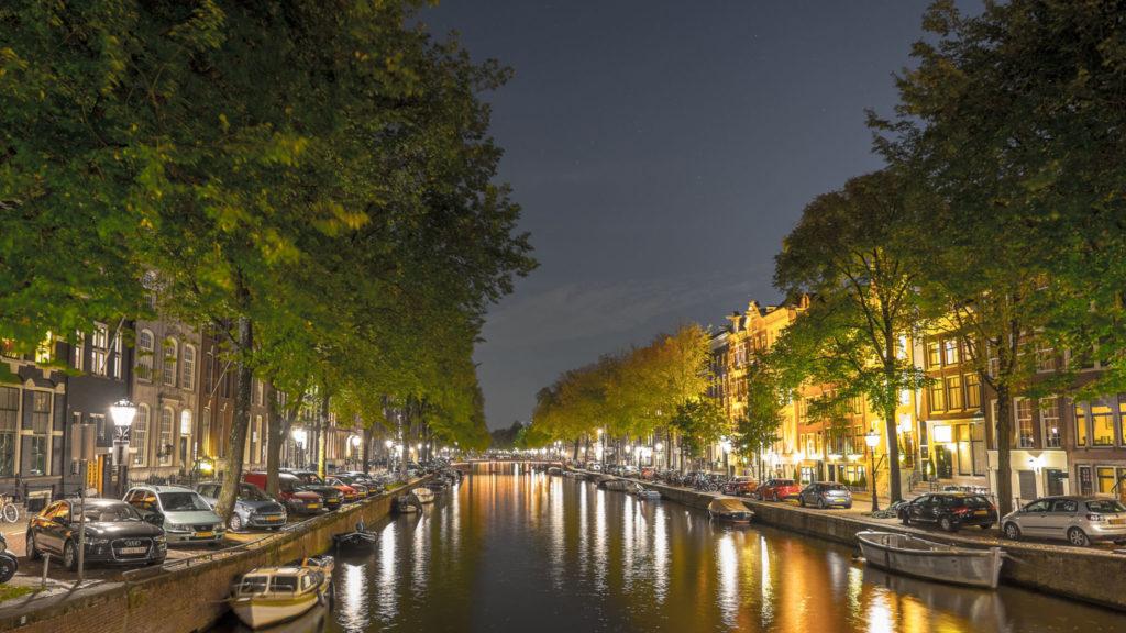 Amsterdams Grachten by night