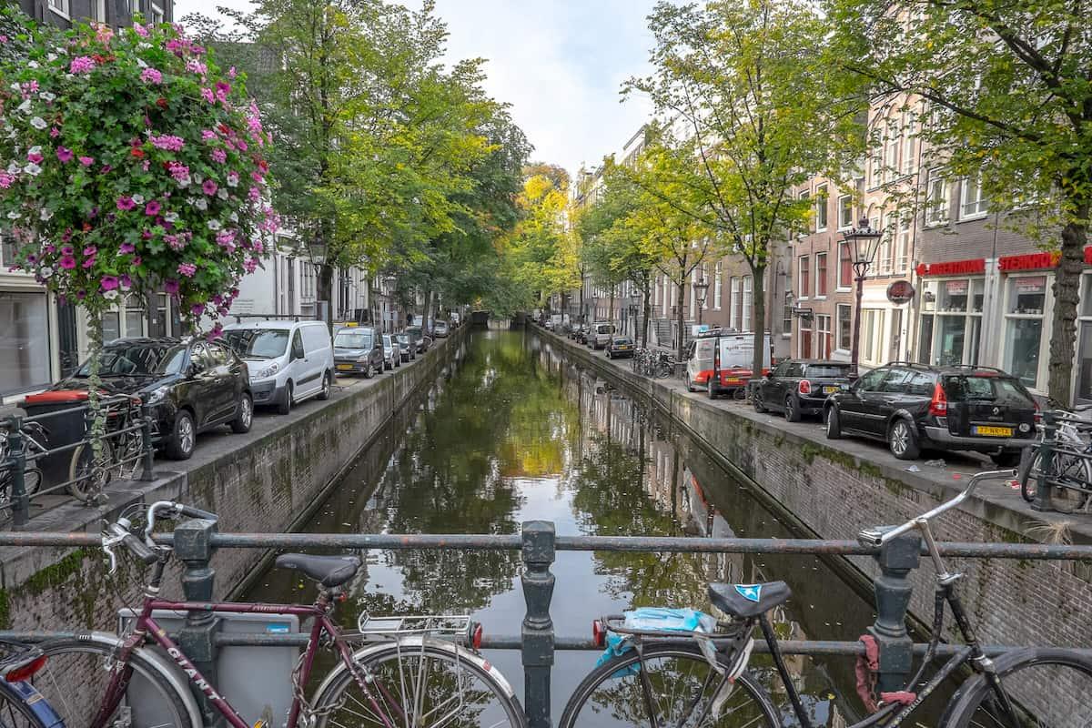 Grachten in Amsterdam, Holland