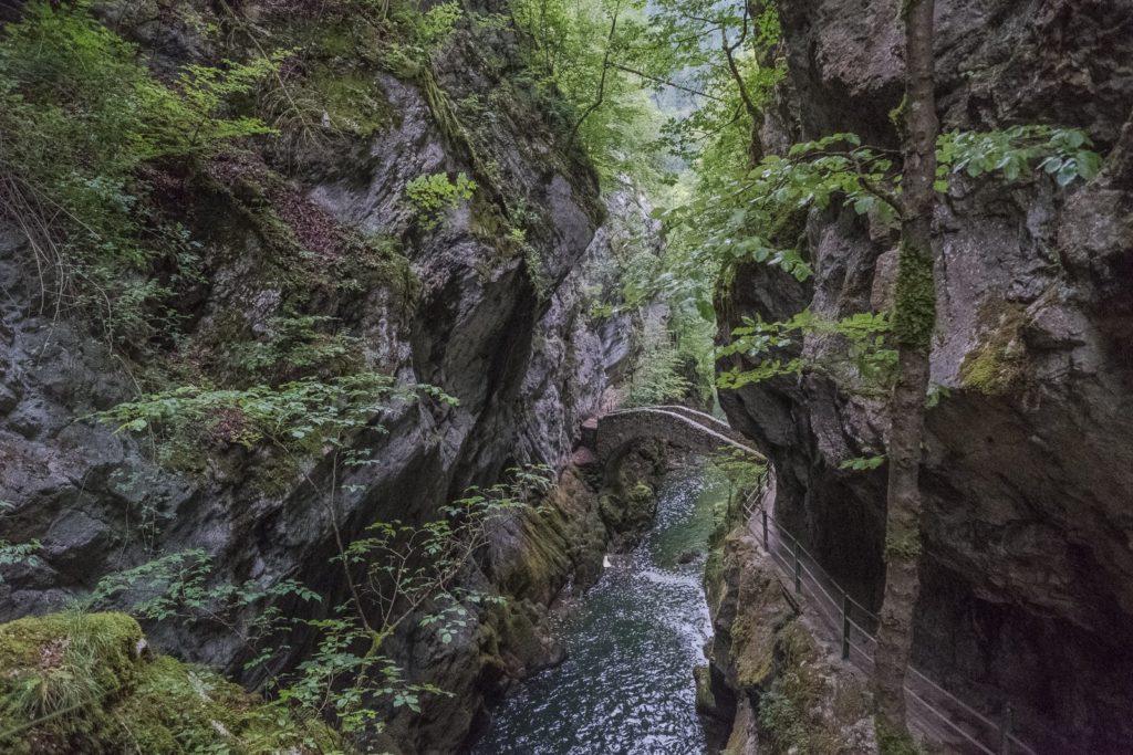 Areuse Schlucht Steinbrücke