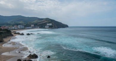 An der Atlantikküste im Baskenland