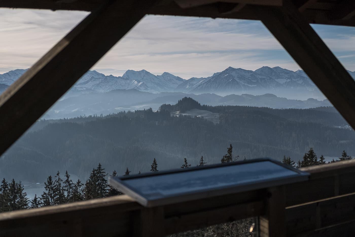 Aussicht vom Chuderhüsi Aussichtsturm