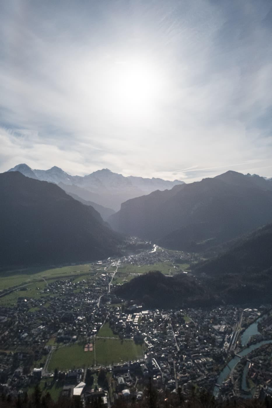 Aussicht über Interlaken vom Hausberg Harder Kulm