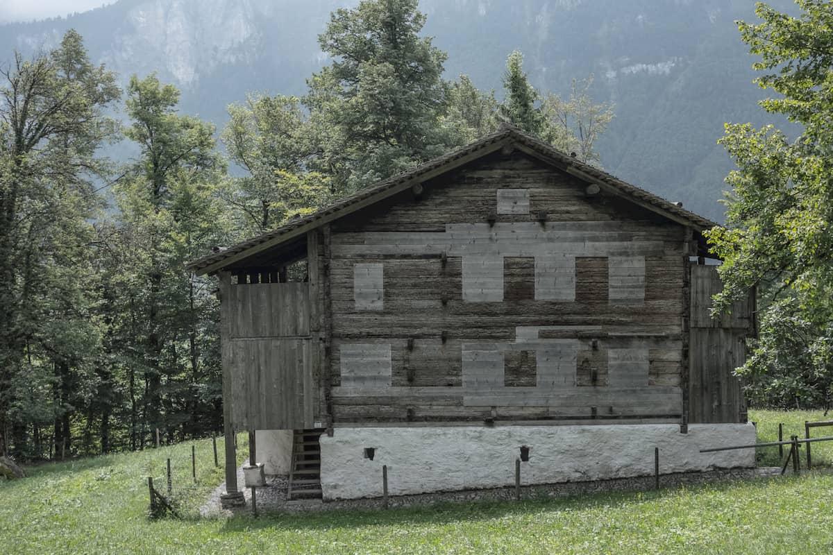 Ältestes Haus im Freilichtmuseum Ballenberg