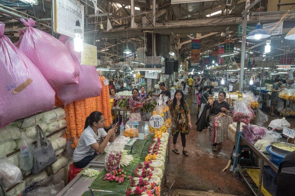 Bangkok Blumen Markt