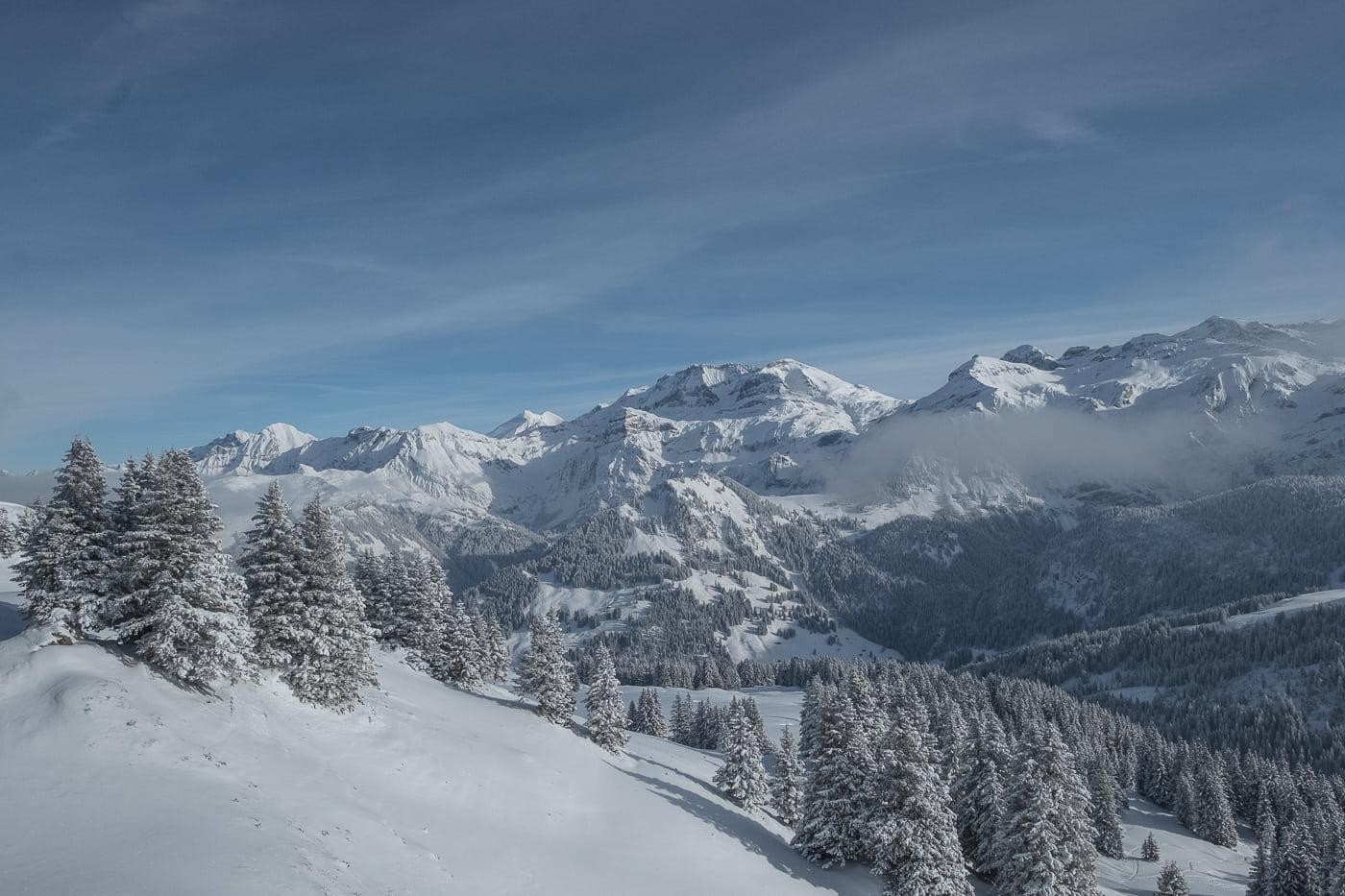 Bergpanorama Lenk Leiterli im Berner Oberland
