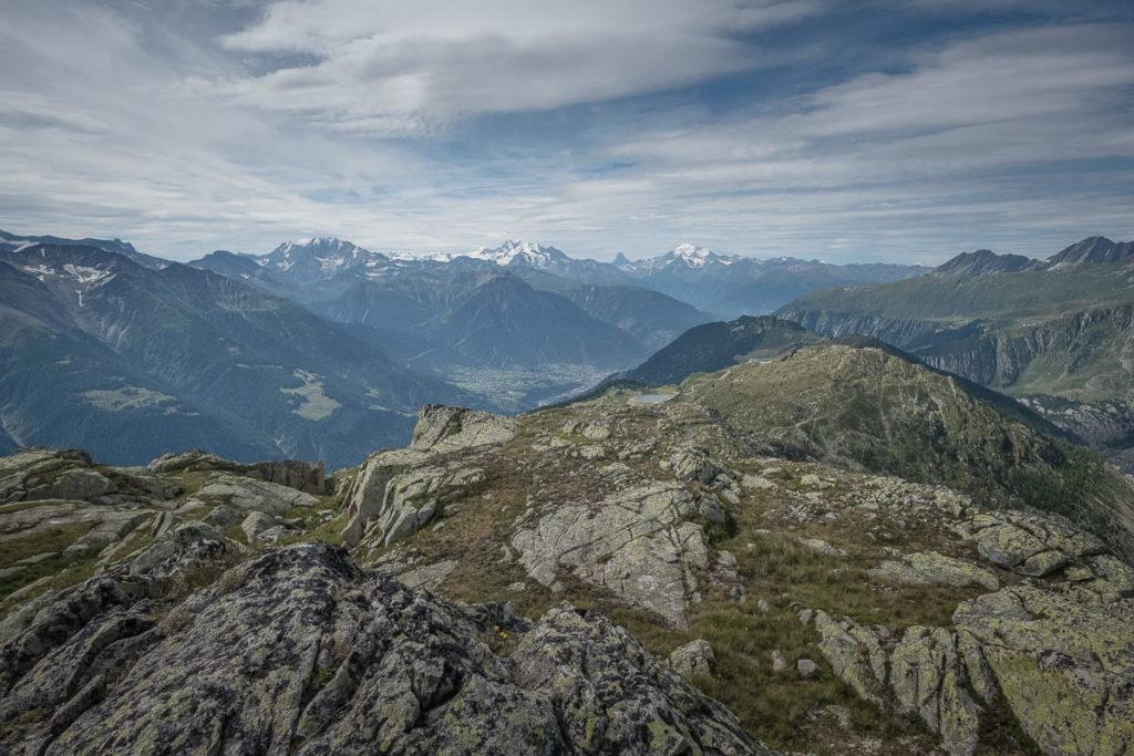 Aussicht auf die Bergwelt Bettmerhorn