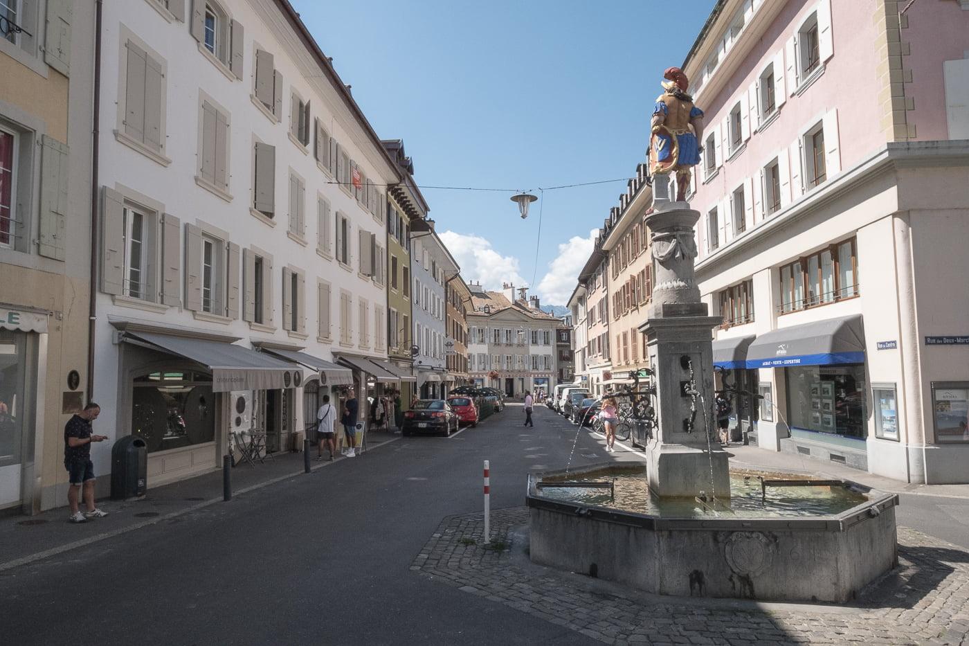 Brunnen in der Altstadt Vevey