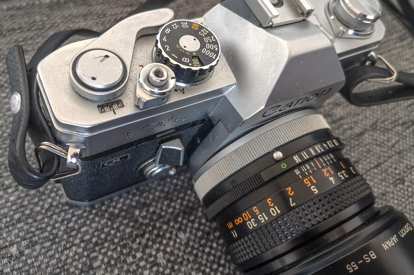 Einstellungen Belichtung Canon FTb