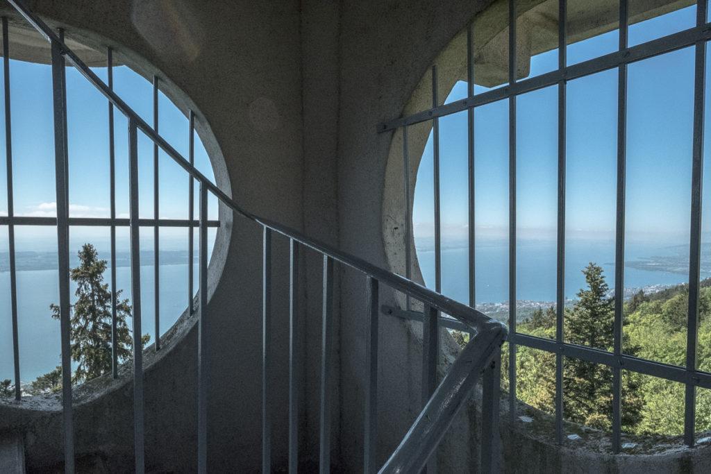 Im Aussichtsturm vom Chaumont