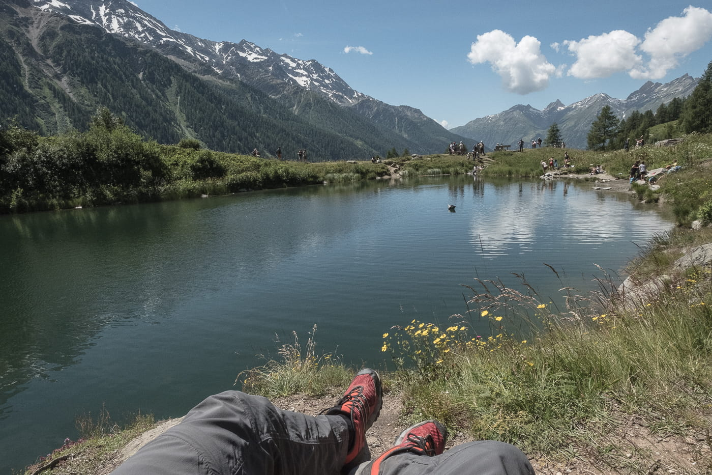 Chillen am Schwarzsee bei Fafleralp