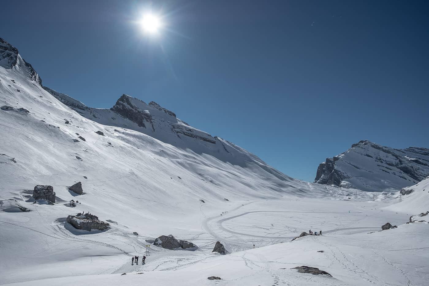 Daubensee oberhalb Leukerbad im gefrorenen Zustand