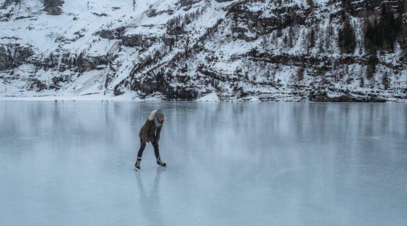 Eisschuhlaufen Oeschinensee