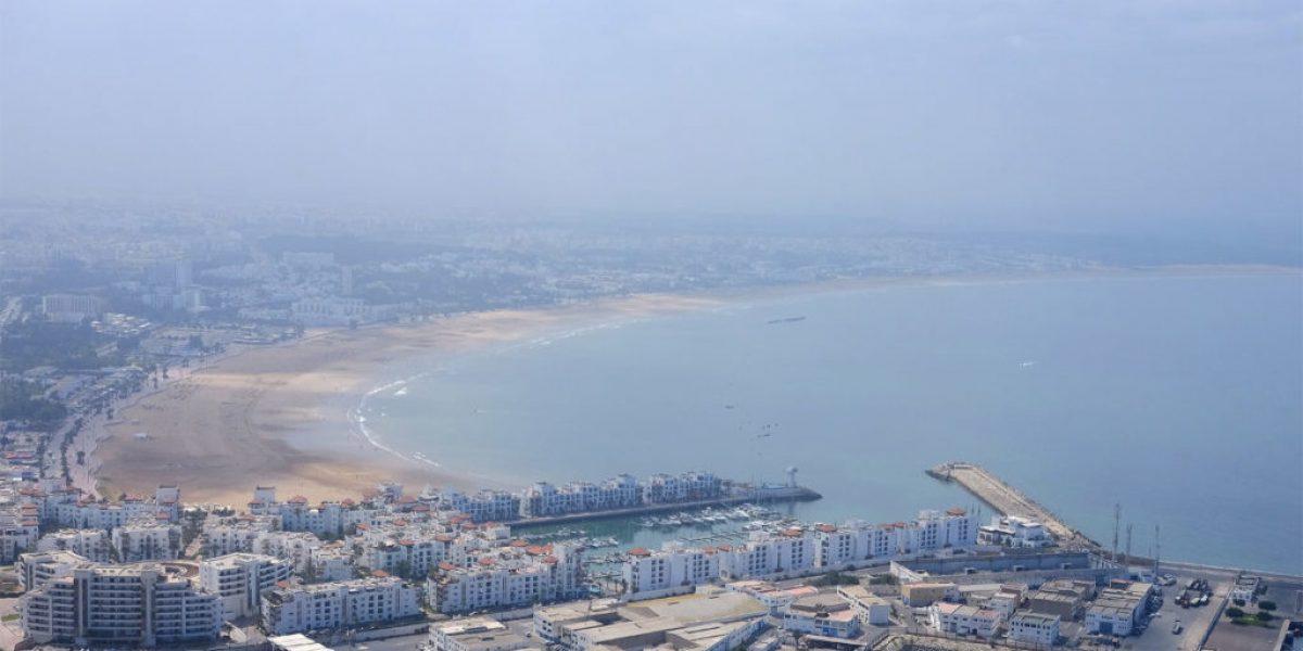 Aussicht auf Agadir in Marokko