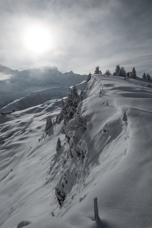 Winterlandschaft Berner Alpen