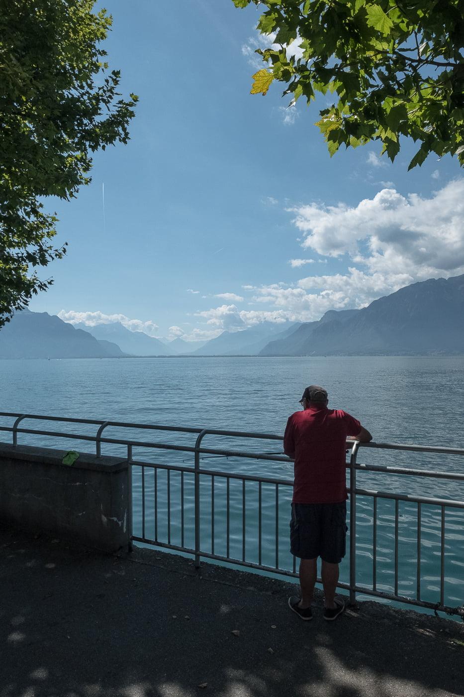 Fischer am Genfersee