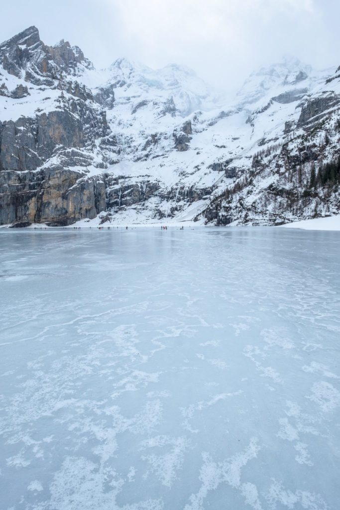 Frozen Oeschinen Lake, Switzerland