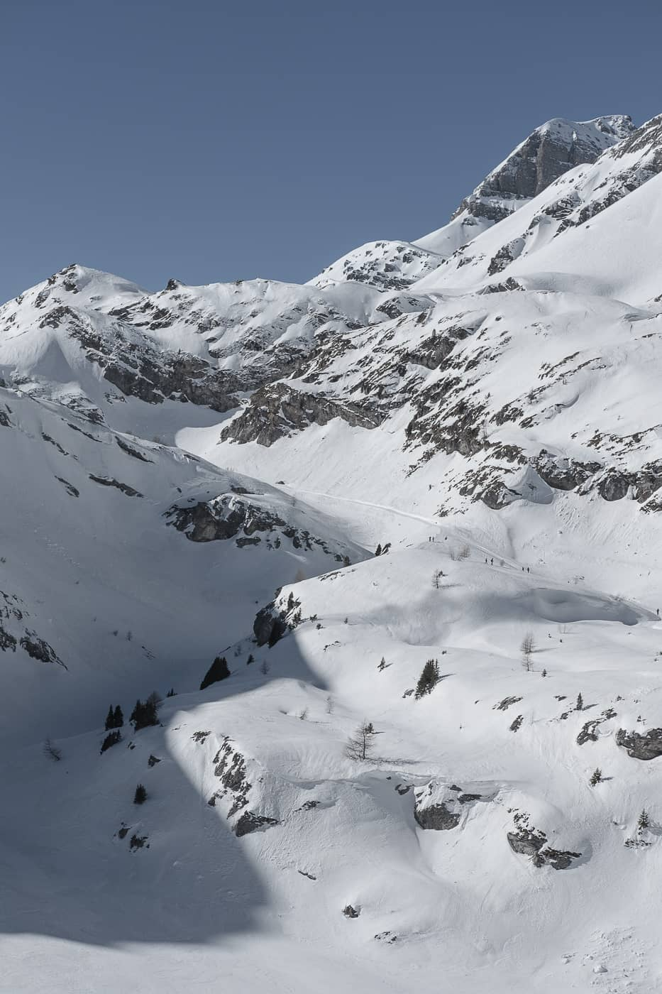 Schneewelt im Gemmi Gebiet
