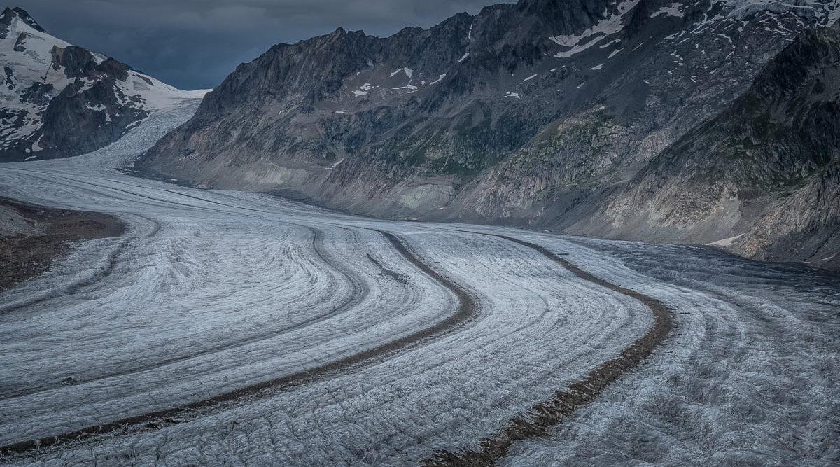 Gletscher in der Aletsch Arena