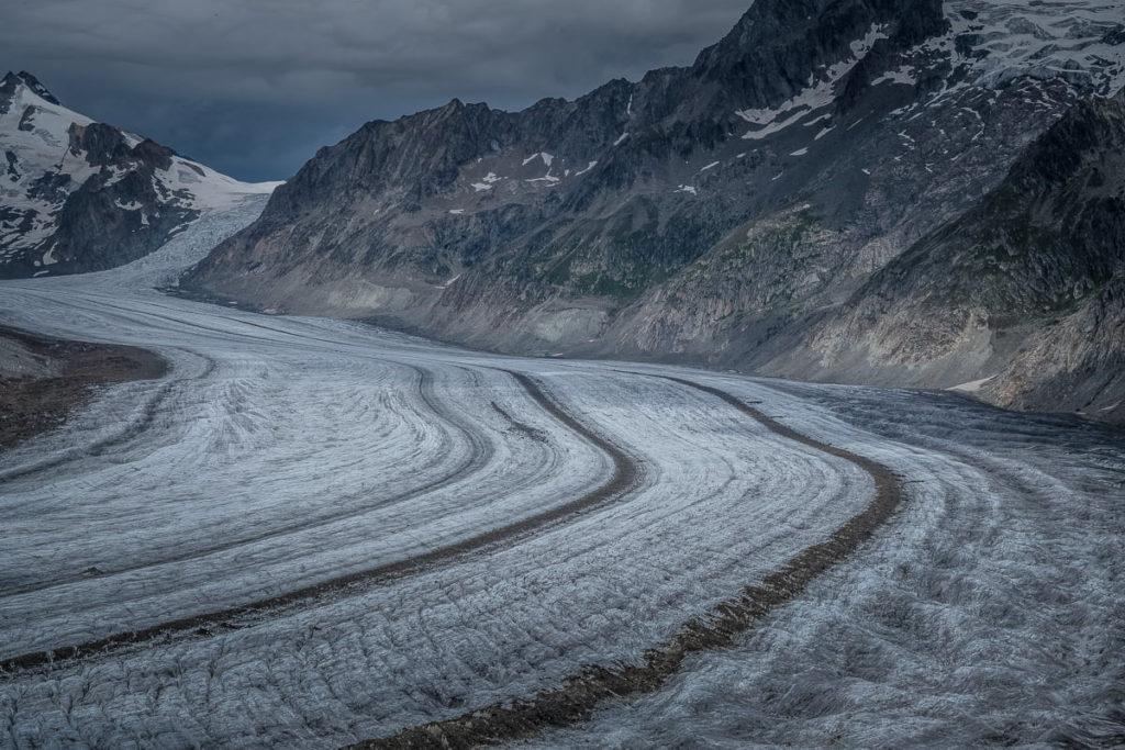 Der grosse Gletscher in der Aletsch Arena