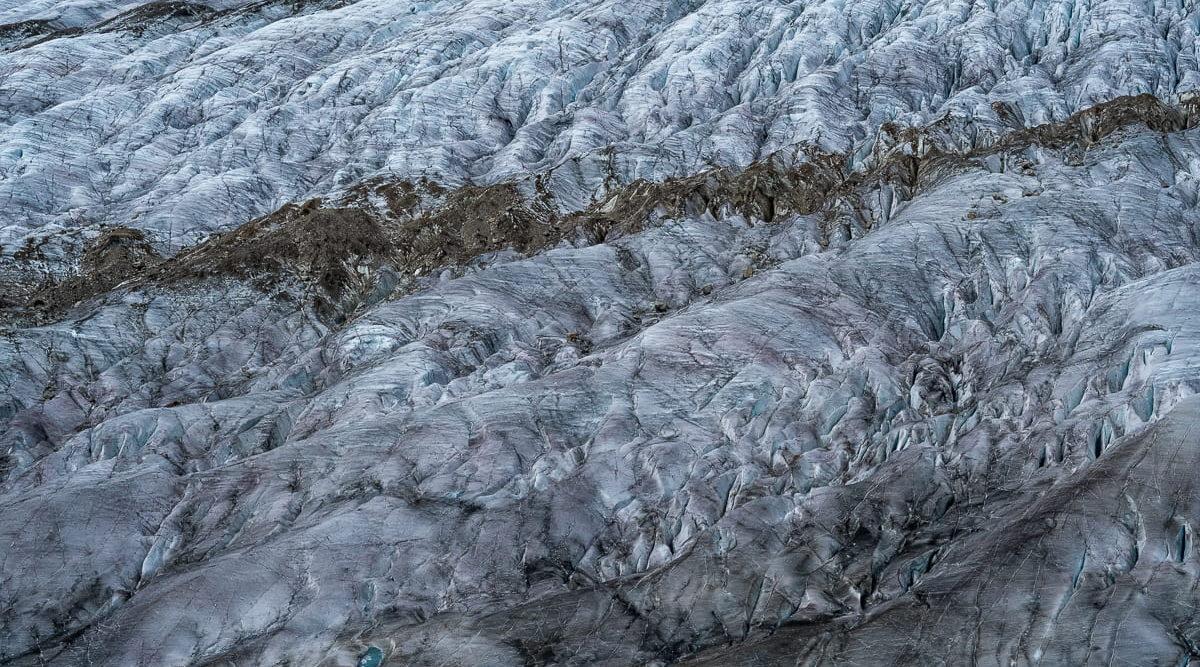 Gletscher Nahaufnahme Eisstruktur