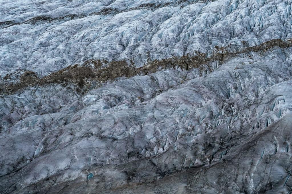 Nahaufnahme Gletscher Aletsch