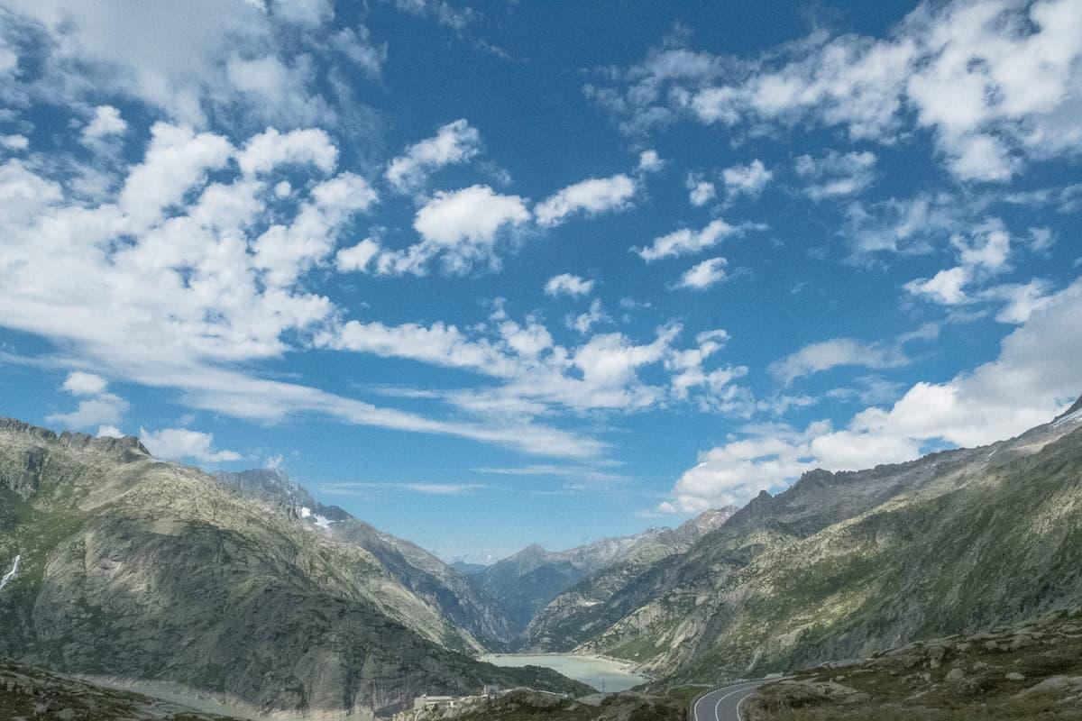 Sicht von der Grimselpasshöhe