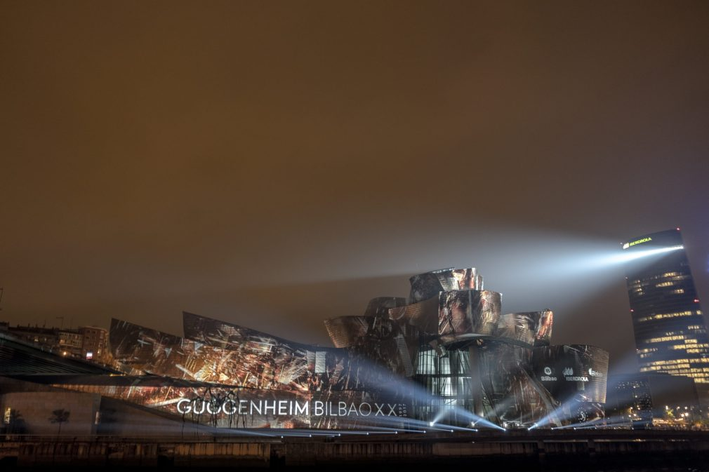 Lightshow Guggenheim Museum Bilbao