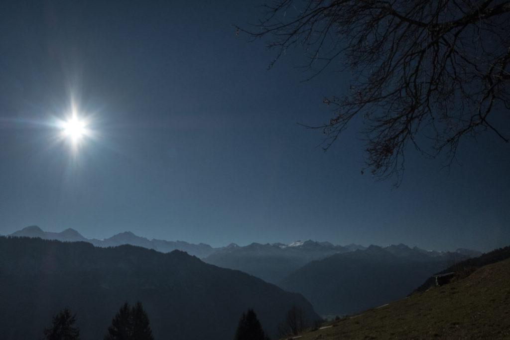 Sonnentag in den Alpen