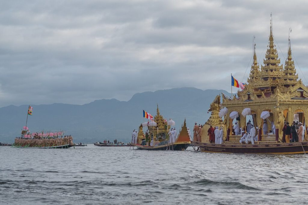 inle lake schwimmende pagode
