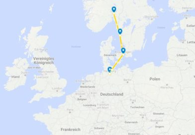 interrail route norden