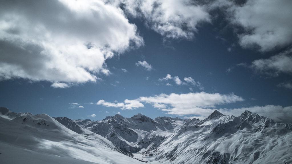 Bergpanorama Jatzhütte Jakobshorn