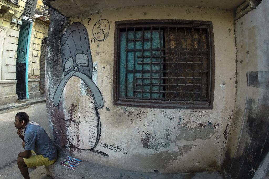 Street-Art Kuba Sad
