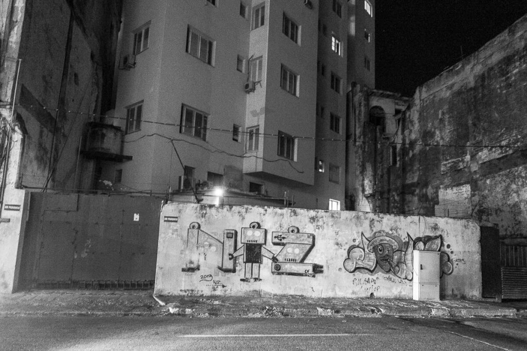 Streetart by night