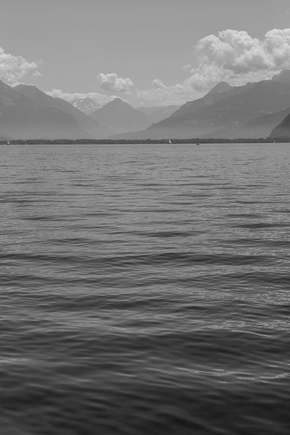 Lac Leman in Schwarzweiss