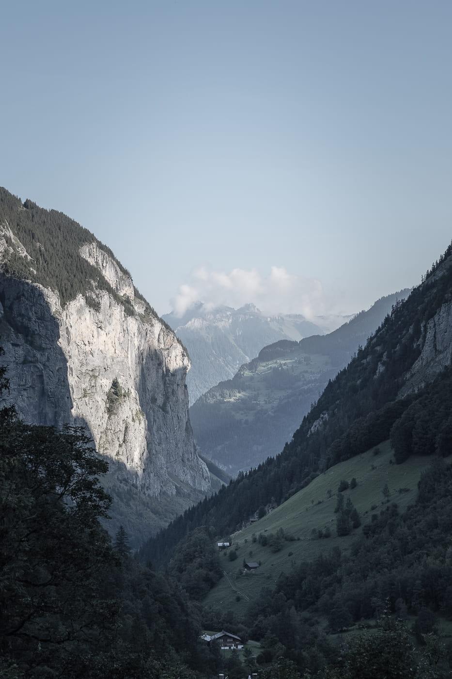 Lauterbrunnental von oben