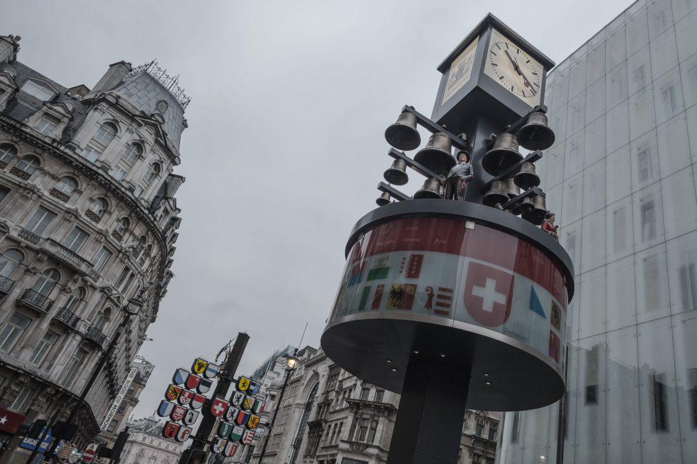 Leicester Square Schweizer Glockenspiel London