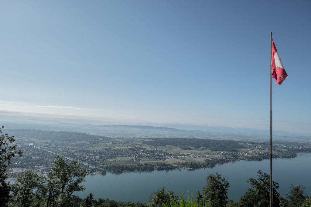 Sicht von Magglingen auf den Bielersee