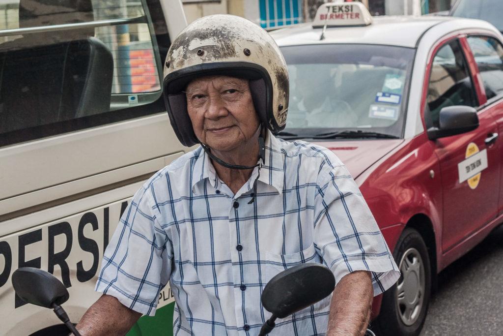 Old man in Georgetown Malaysia