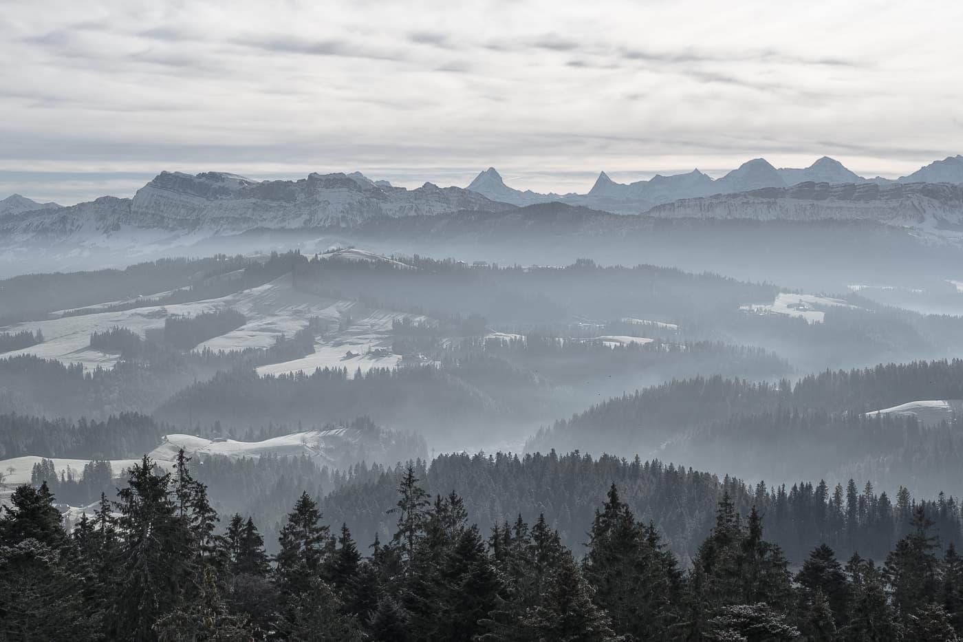 Nebelschwaden über das Emmental