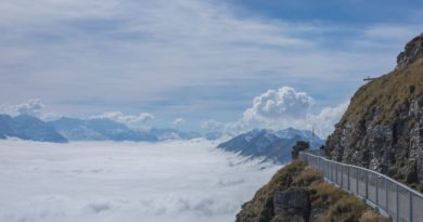 Wolkenmeer auf dem Niesen