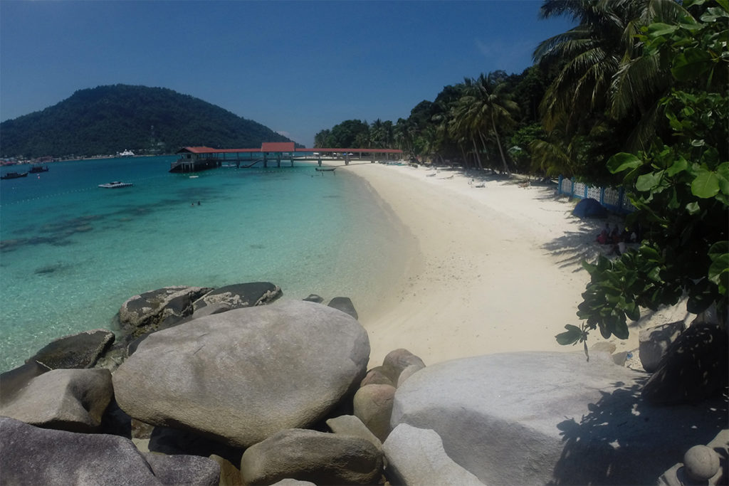 Weisser Sandstrand auf Perhentian Islands