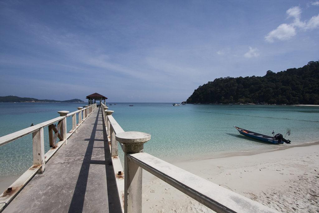 Peer für die Ankunft auf Perhentian Islands Malaysia